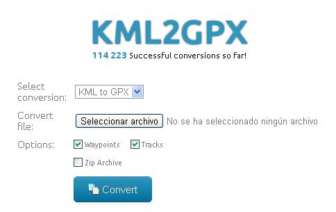 KML2GPX