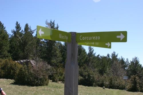 Desde Petreñales, para Corcurezo-Fragineto, Calcón, o Nocito
