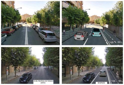 Cambios producidos en las calles por el carril bici
