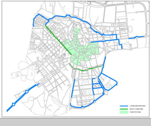 mapa carril bici huesca oct 2013