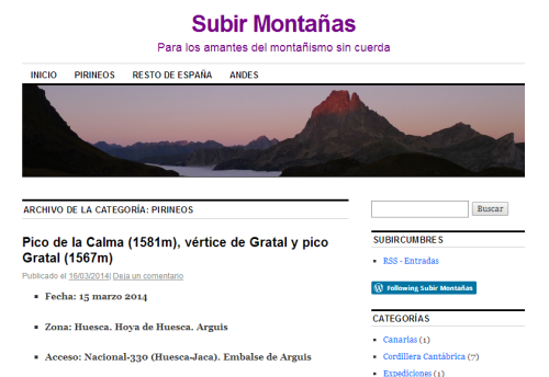 Pirineos   Subir Montañas